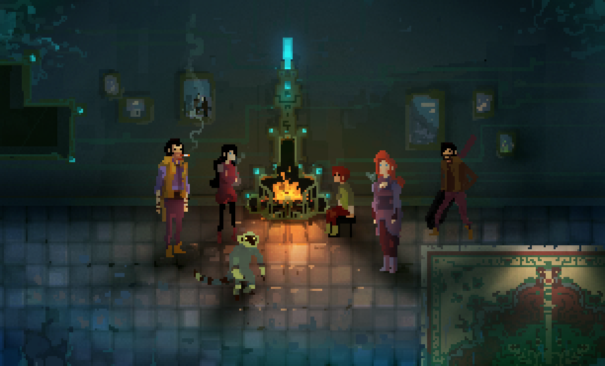Early family concept art for Children of Morta as shared by the team at Dead Mage.