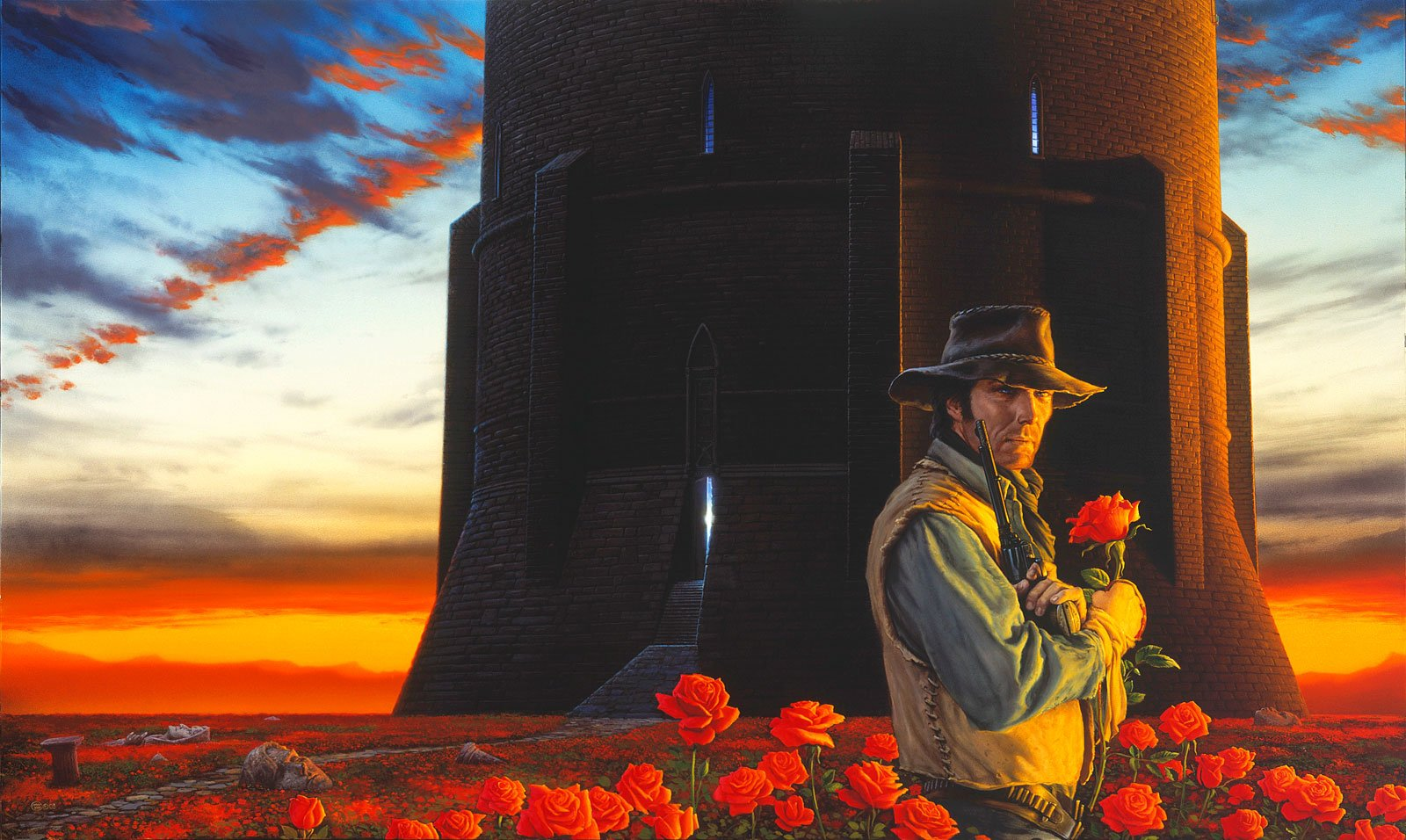 Cover art for the 7th book in The Dark Tower series from the incredibly talented Michael Whelan.