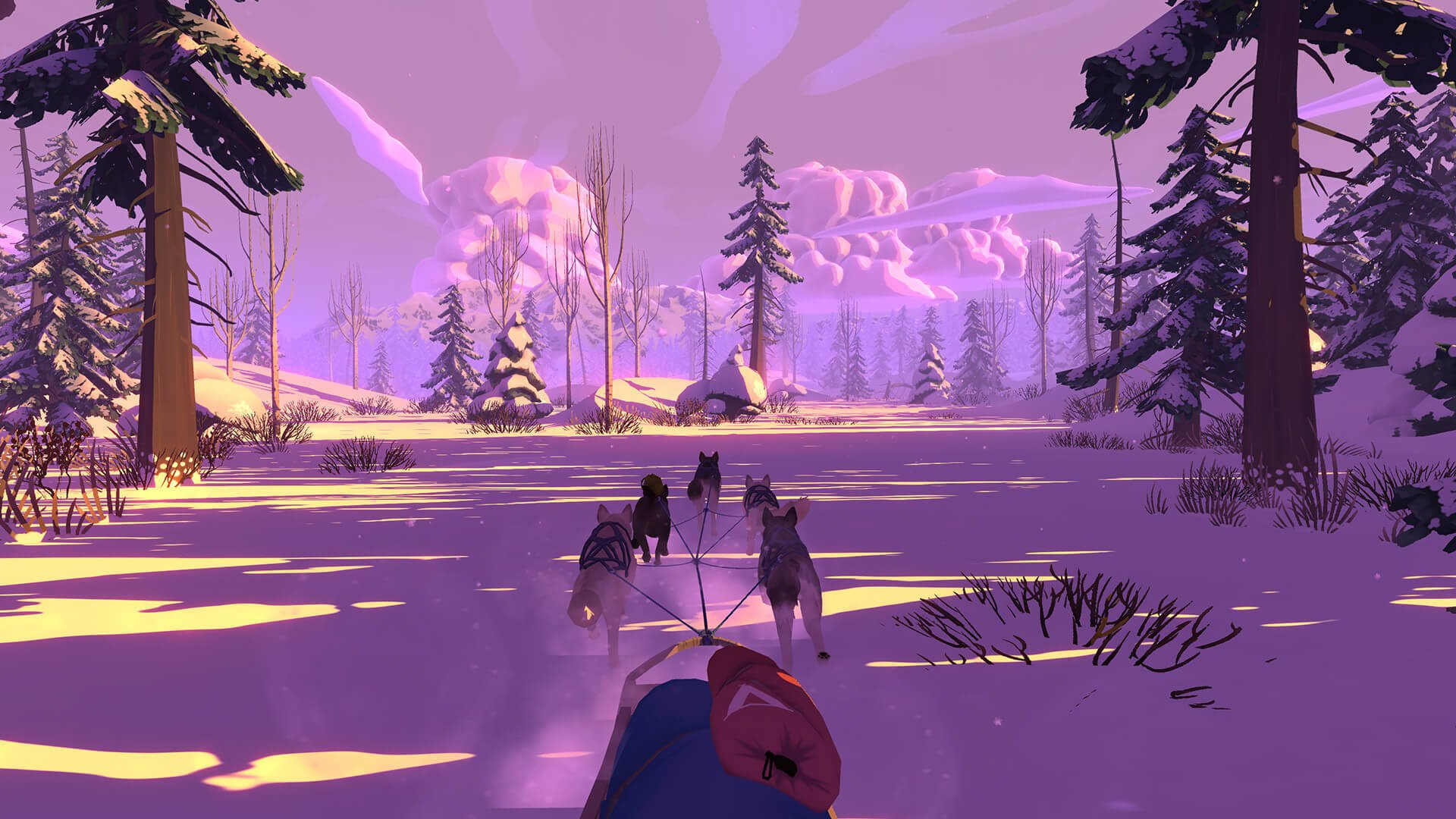 Team up with 5 sled dogs and survive the Alaskan wilderness in The Red Lantern.
