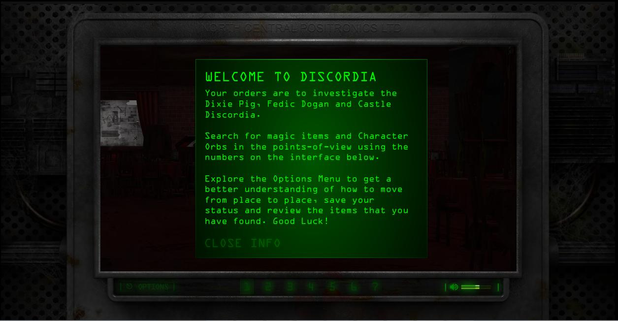 Discordia was a point-and-click exploration game added to Stephen King's website in 2009.