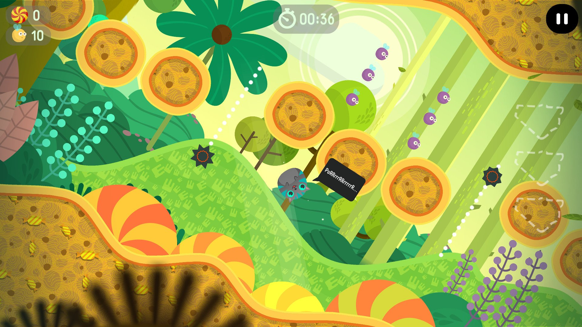 Help Mr. Whiskers eat his fill of dumplings in The Big Journey.