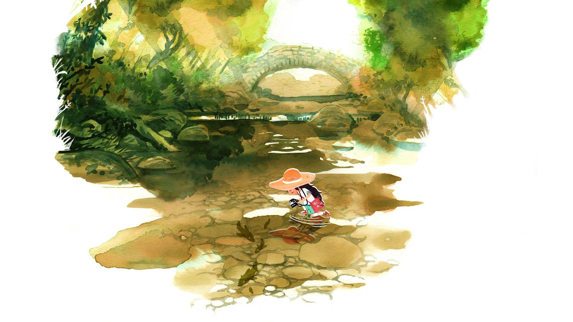 Showcasing some incredible indie art like this serene watercolor piece from the upcoming indie game, Dordogne.